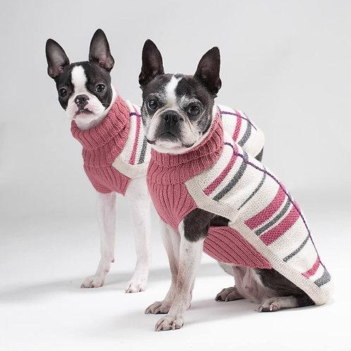 rosa Hundepullover, Doppelansicht