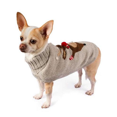 Hundepullover Weihnachtsmuster, Seitenansicht