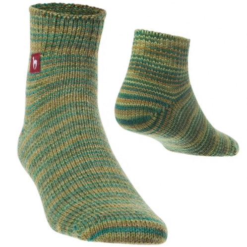grün melierte Freizeit-Socken, Vorderansicht