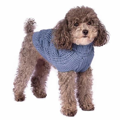 Hundepullover blau, Vorderansicht