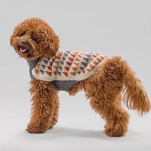 Mehrfarben Hundepullover, Seitenansicht