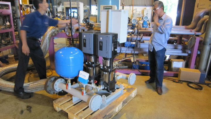 Testing Grundfos Booster System