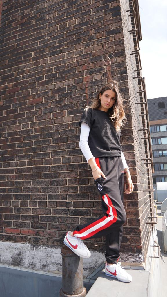 Cold Attitude Joggers on Girl
