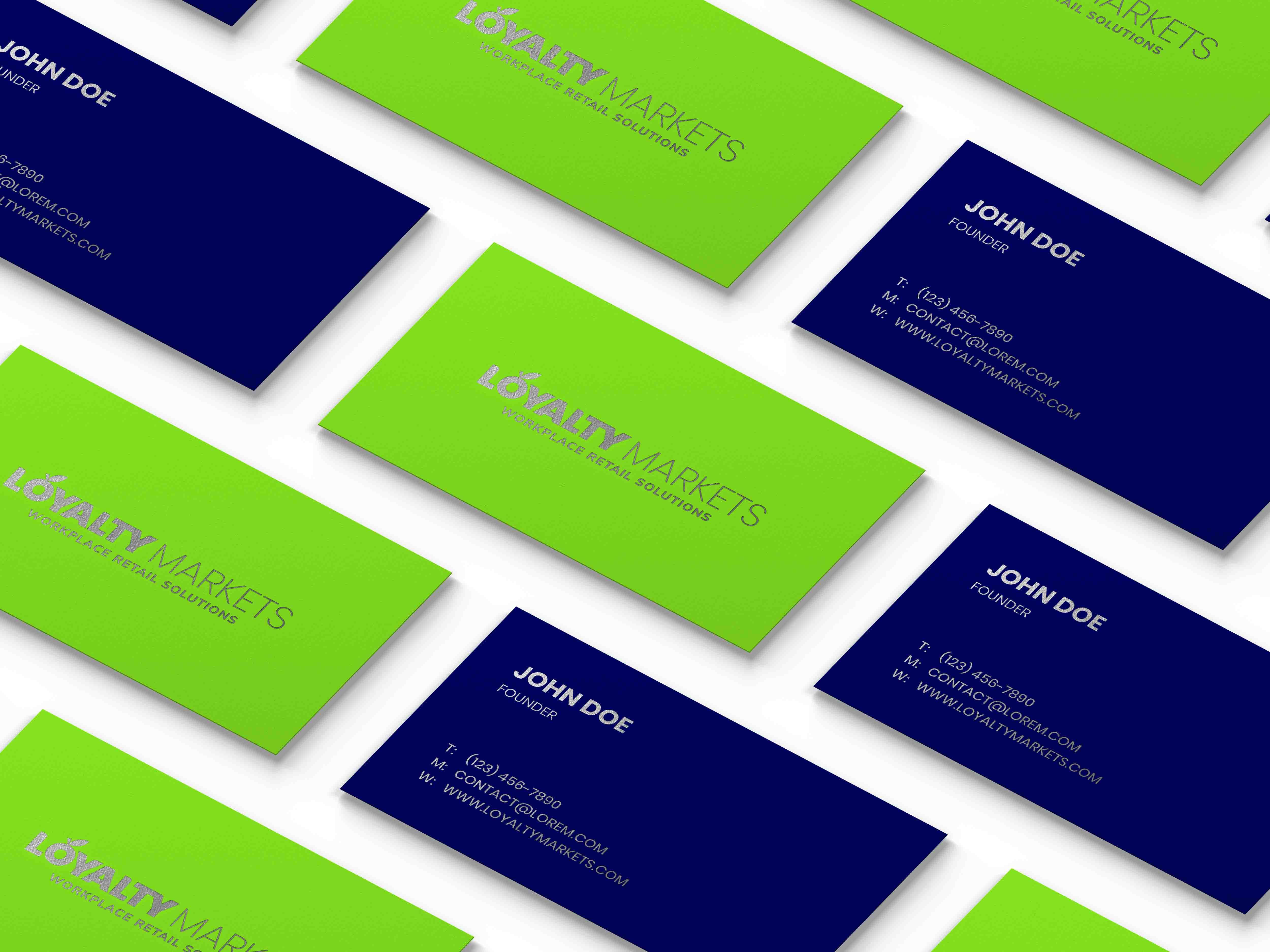 Loyalty Business Card Mockup