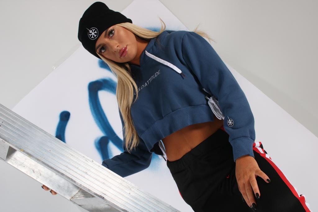 Cold Attitude Blue sweater & sweats
