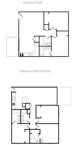 river Oak 2 and 3 Bedroom Plan