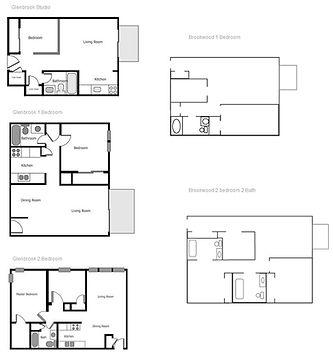 Brookwood 1 Bedroom Plan