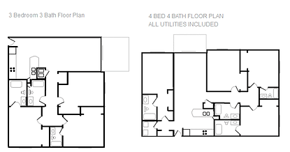 Fountain View 1329 3 and 4 Bedroom Plan