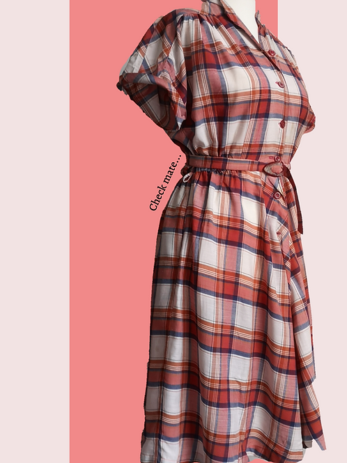 Vintage check dress