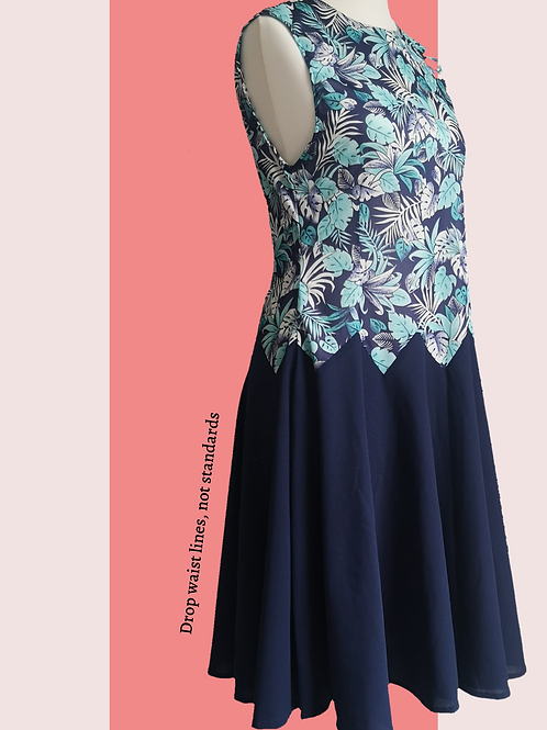 Dropped waist up-cycled dress