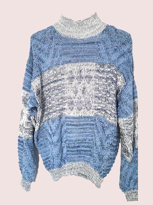 Baby blue retro jumper