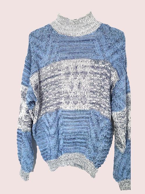 Pastel blue retro jumper