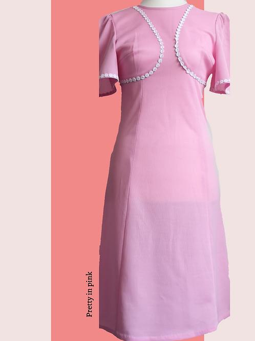Sweet pink vintage dress