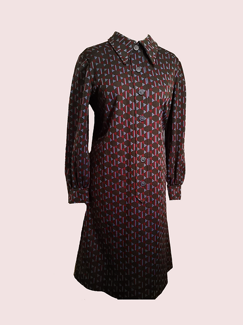 60's geometric dress