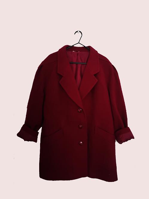 Deep Red Vintage Coat