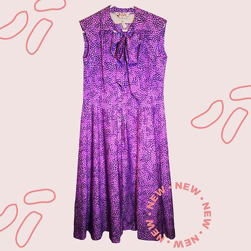 Vibrant purple tea dress