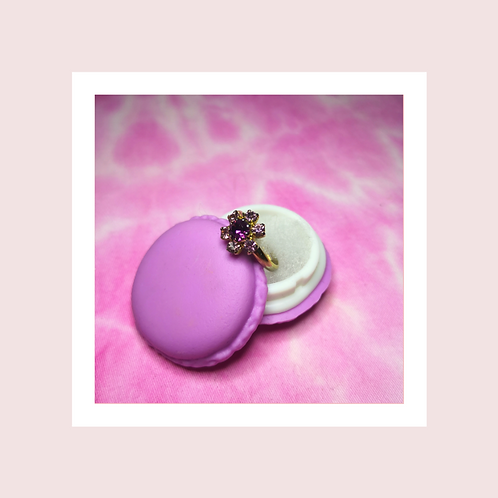 Vintage purple stone ring