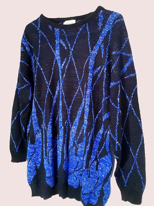 Blue sparkly 90's jumper
