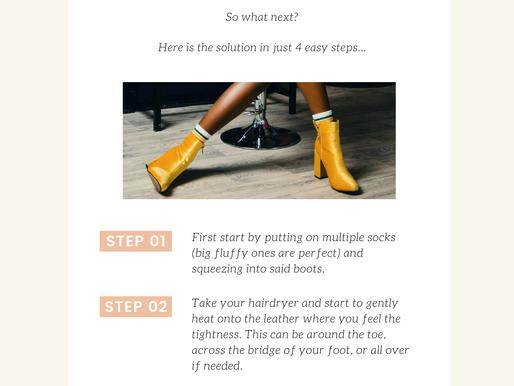 4 easy steps: Break in leather boots
