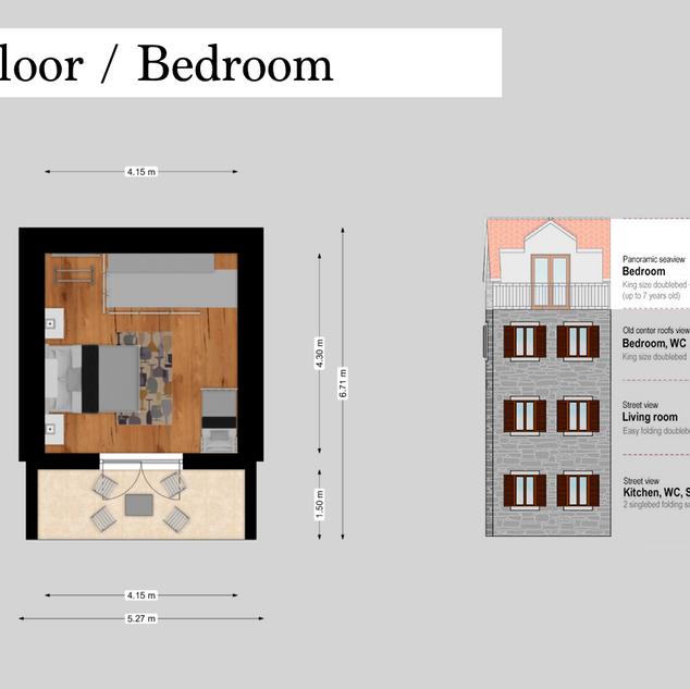 SolineHome Brela | 3rd floor 2D plan