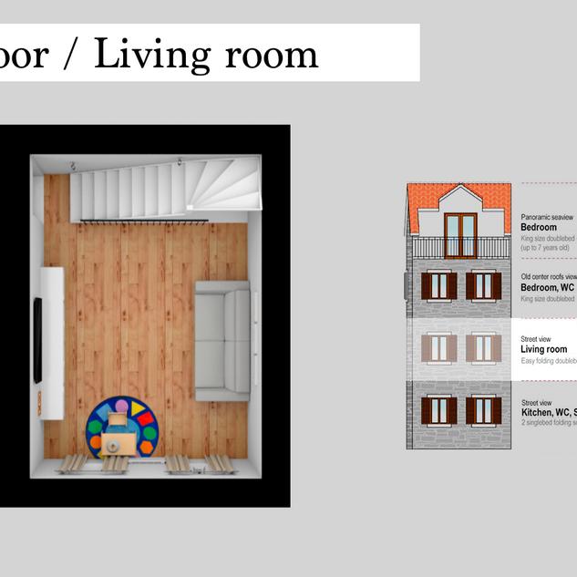 SolineHome Brela | 1st floor 3D plan