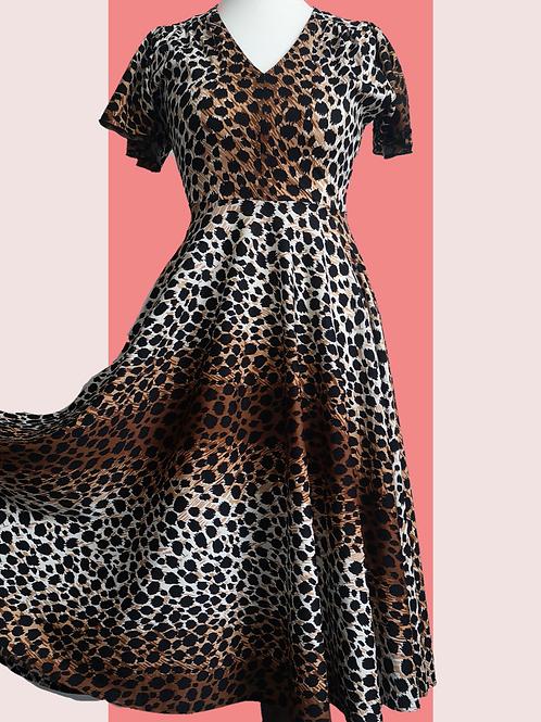 Leopard print circle dress