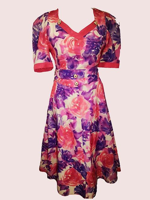 Handmade vintage tea dress