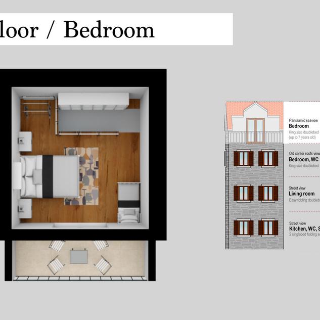 SolineHome Brela | 3rd floor 3D plan