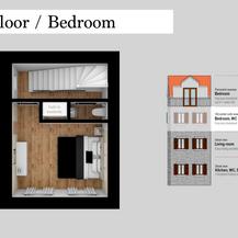 SolineHome Brela | 2nd floor 3D plan