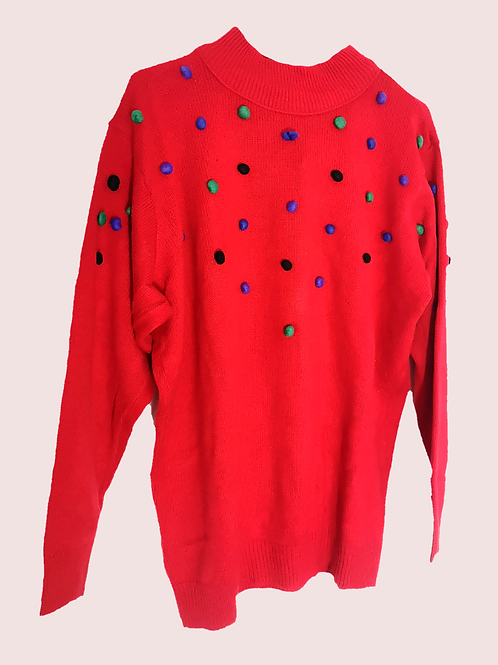 Red 90's Jumper