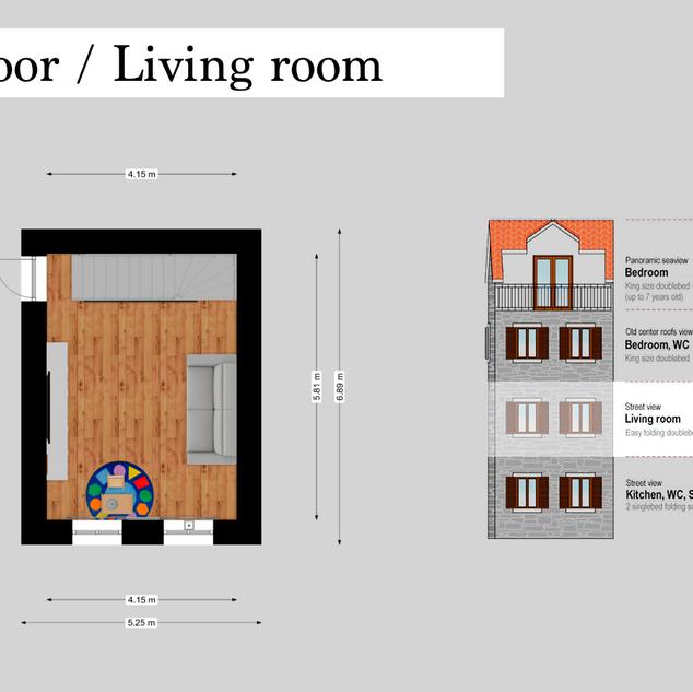 SolineHome Brela | 1st floor 2D plan