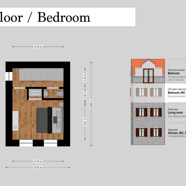 SolineHome Brela | 2nd floor 2D plan