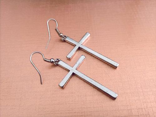 Statement cross earrings