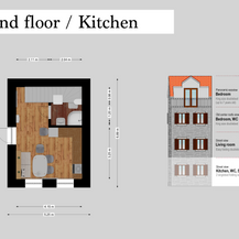 SolineHome Brela | Ground floor 2D plan