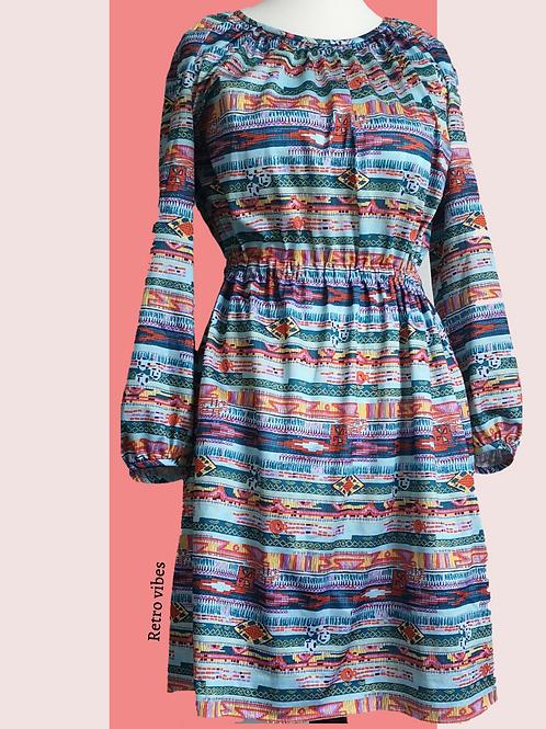 Aztec style vintage dress