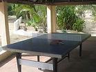 table de ping pong située à l'hôtel cap saint-louis au Sénégal
