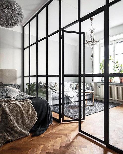 Лофт конструкция между спальней и гостиной.