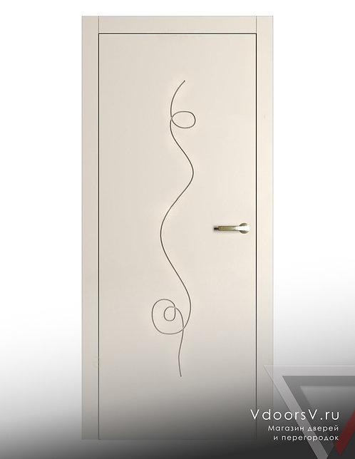 Окрашенная дверь Альфа RAL-9001.