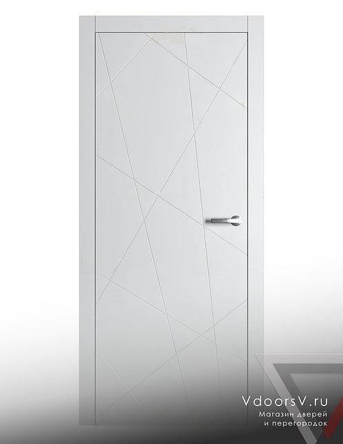 Окрашенная дверь Молнии RAL-белый