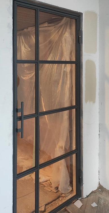 Дверь распашная Лофт сталь. Ул. Малая Грузинская 28.