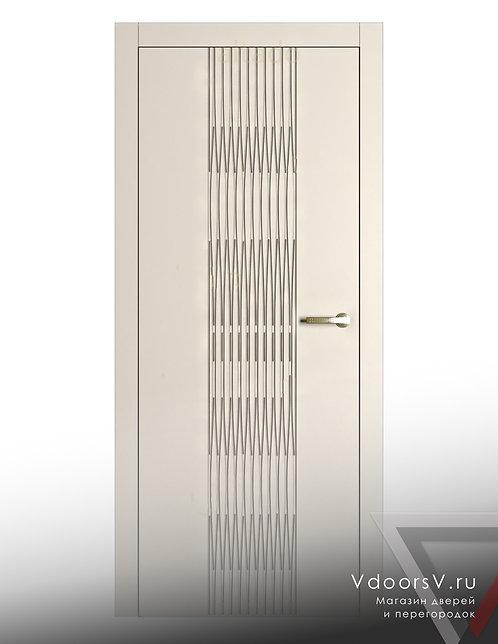 Окрашенная дверь Гауди 3D RAL-9001.