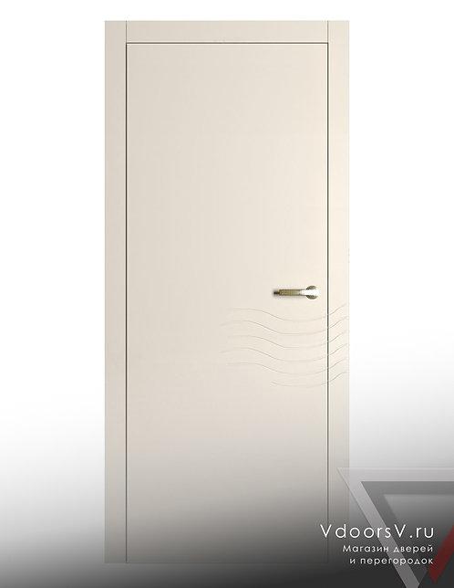 Окрашенная дверь Волна RAL-9001.