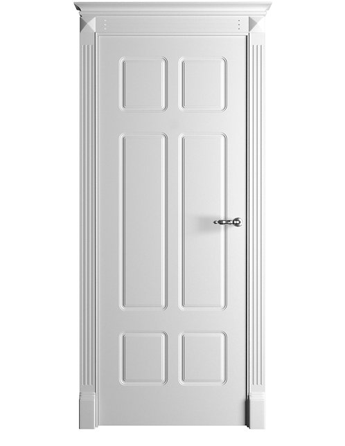 Окрашенная дверь Standart 10/6 RAL-белый