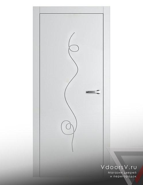 Окрашенная дверь Альфа RAL-белый.