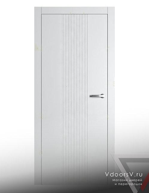 Окрашенная дверь Дождь RAL-белый.