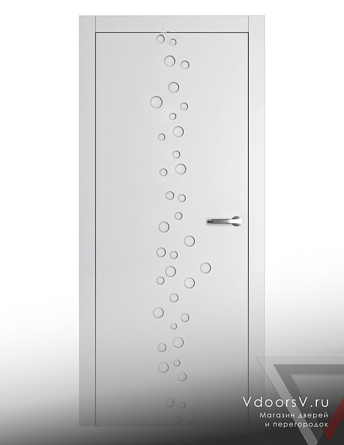 Окрашенная дверь Гауди RAL-белый.