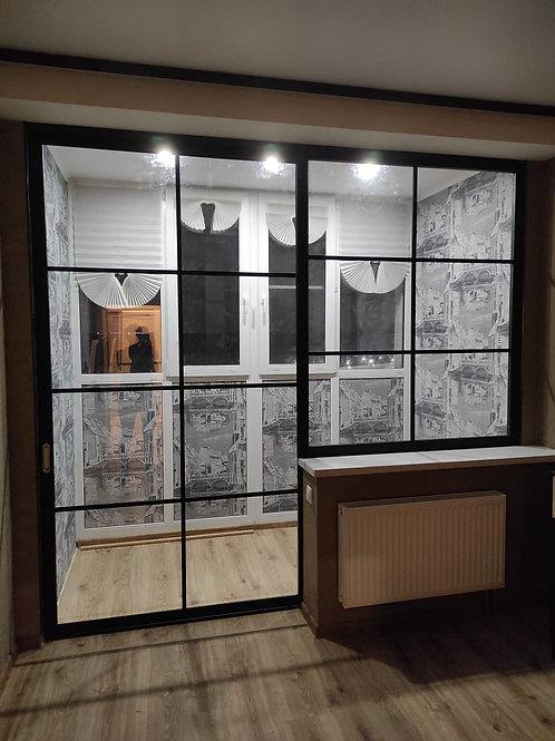 Стационарное окно+раздвижное полотно. Зонируем лоджию. Одинцово, ул. Белорусская