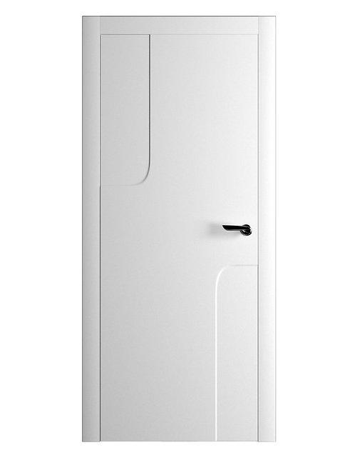 Окрашенная дверь RENOIR Рал-белый