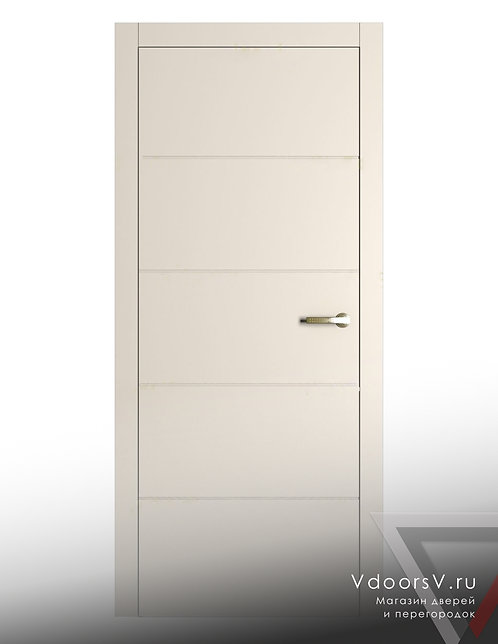 Окрашенная дверь S-4 RAL-9001