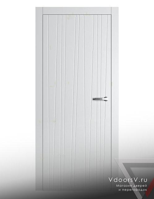 Окрашенная дверь Лиана RAL-белый.